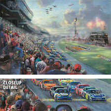 "40W""x28H"" NASCAR THUNDER by THOMAS KINKADE - CHOICES of CANVAS"