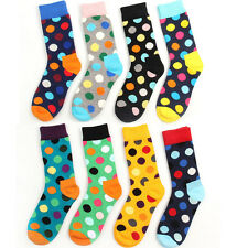 Casual Cotton Socks Design Polka Dot Multi-Color Fashion Dress Mens Womens Socks
