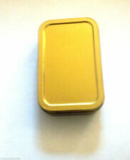 Golden 1oz Hinged Lid Tobacco/Stash Tin with Various Standard booklets by eTrend