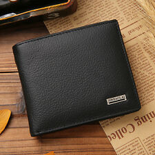 New Vintage Genuine Leather Mens Bifold Wallet Coin Purse Credit Card Holder Bag