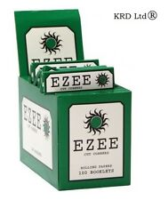 Genuine EZEE GREEN Cigarette Rolling Papers Standard Size 100 Booklets FULL BOX