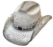 Women's Straw Hat w/ Air Vent Off White Western Hat Cowgirl Cowboy Hat S,M,L,XL