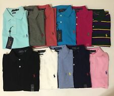 NWT POLO RALPH LAUREN CUSTOM FIT MESH SHORT SLEEVE SHIRT POLO SOLIDS