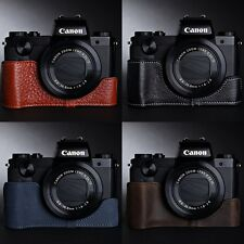 Genuine real Leather Half Camera Case Camera bag cover for CANON G5X 4 Color