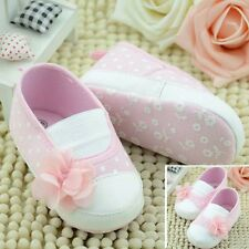 Toddler Baby Princess Girls Flower Crib Shoes Soft Sole Slippers Sneakers Shoes