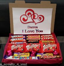 Large Anniversary Chocolate Gift Box Hamper Personalised Just For You Love Heart