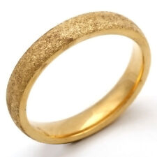 Fashion jewelry Scrub Mens Yellow Gold Plated Stainless Steel Ring 7 8 9 10 11