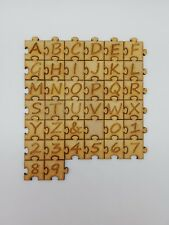 Wooden Jigsaw Letters & Numbers 3cm Laser Cut Embelishments Shapes MDF