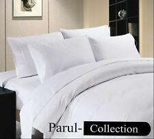 FOR CANADA New Super Soft Hotel Collection White Solid Pure 1000TC 100% Cotton