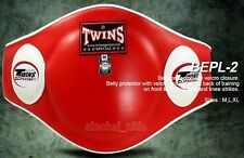 NEW TWINS BELLY PADS BEPL-2 GUARD PROTECTOR MUAY THAI KICK BOXING MMA LEATHER