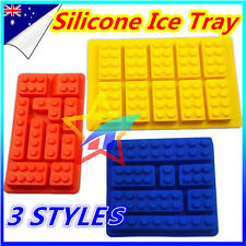 Lego Brick Chocolate Ice Cube Tray Jelly Moulds Silicone Molds Block Multi Shape