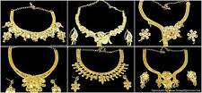 Necklace Earrings Jewelry set Gold Plated Beautiful 6 Designs Indian Jewelry set