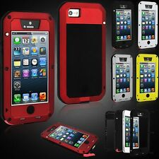 Shockproof Aluminum Gorilla Glass Metal Case Cover for iPhone 5S 5C 6 & 6S Plus