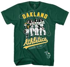 KISS - Oakland Athletics Dressed to Kill T-Shirt Green New Shirt Tee