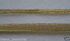 Ribbon Metallic GOLD sparkly Christmas ribbon 3mm 6mm wide flexible 5m roll new