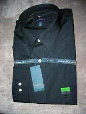 Arrow Black Poplin Long Sleeve, Point  Collar,Classic Fit  Dress Shirt-$45-NW T