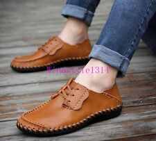 Men's  Sneakers Casual Shoes Lace Up Driving Moccasins Flat Slip on Loafer UK Sz