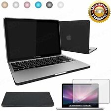 "Rubberized Hard Shell Case Cover Keyboard For Macbook Air 13 11 Pro 12 13 15""Re"