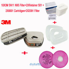 Respirator Paint Spraying Face Gas Mask Replace Fitting For 3M 6000 7000 Series