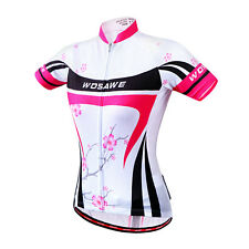 New Women's Bicycle Cycling Outdoor Short Sleeve Jersey Bike Shirts Jacket S-XL