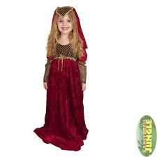 JULIET TUDOR PRINCESS RED MAID MARIAN MEDIEVAL child girls fancy dress costume