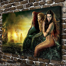 Home Deco Mermaid Oil Painting HD Print On Canvas Deco Wall Art 20X32 inch