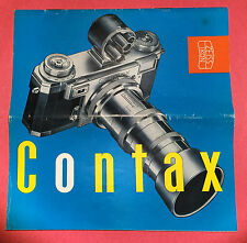 Contax Zeiss Ikon Vintage Catalog Western Germany