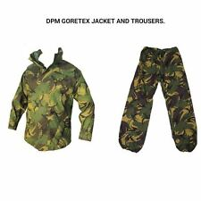 DPM GORETEX SET - JACKET AND TROUSERS - USED - WATERPROOF SET - BRITISH ARMY !