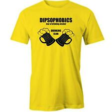 Drinking Club Party T-Shirt Dipsophobics Beer Funny Tee New