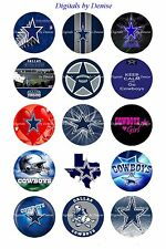 "DALLAS COWBOYS 1"" CIRCLES  BOTTLE CAP IMAGES. $1.95-$4.50"