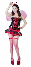 Sexy Queen Lady Bird Bug Fancy Dress Hen Night Costume With Wings Free P + P