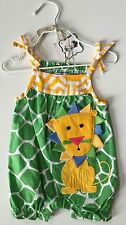 Baby Clothing Mud Pie Girls Safari Lion Green Romper