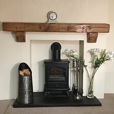 Pair of rustic oak corbels for floating mantles/shelves/beams Range of finishes