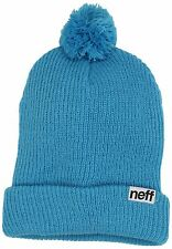 Neff Casual Skate Winter Wear Klaus Skull Cap Cyan Blue Mens Beanie Hat