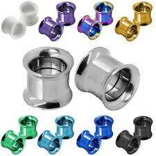 Set Double Flared Flesh Tunnel Ear Plug Piercing Stainless Steel to Screw 1,6-10