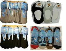 3,6,12 Pairs mens invisible liner trainer socks no show secret footsies 6-11