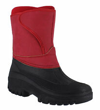 Groundwork LS89nub Womens Red Nubuck Style Velcro Winter Stable Yard Boots