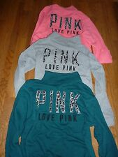 "VICTORIAS SECRET PINK LEOPARD/CHEETAH ""PINK"" 1/4 ZIP FUNNEL NECK SWEATSHIRT NWT"