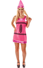 Ladies Pink Crayon Novelty Funny Hen Party Outfit Fancy Dress Costume