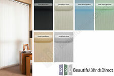"""Complete Vertical Blinds FROM £7.. Made to Measure 3.5"""" Slats/Louvres 6 Colours"""