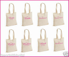 Printed Wedding Party Bridal Tote Bags, Bridesmaid, Favour Hen Party Gift Bag