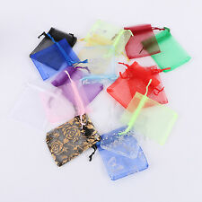 50/100 Sheer Organza Wedding Party Favor Decor Gift Candy Bags Pouches Ornament