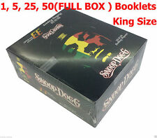 Snoop Dogg King Size Slim Tobacco Rolling Papers-1,5,10,25,50(FULL BOX) BOOKLETS