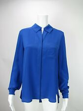 DIANE VON FURSTENBERG DVF Women's Lorelei  Blue  Blouse 4 6 10 NEW WITH TAGS