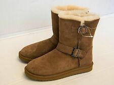 New KIRKLAND SIGNATURE SHEARLING BUCKLE BOOT GENUINE AUSTRALIAN SHEEPSKIN