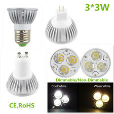 Epistar Dimmable/Non-Dimmable LED Lamp 9/3x3W MR16 GU10 E27 Warm Cool Light Bulb
