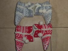 VICTORIAS SECRET PINK SLIPPERS/BOOTIES   RED/WHITE OR GRAY/WHITE NWT