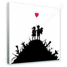 COTTON CANVAS  Banksy Kids on Guns Hills print GICLEE gallery art reproduction