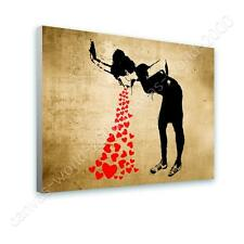 COTTON CANVAS  Banksy Lovesick print repro GICLEE fine art wall art poster