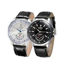 Luxury Mens Automatic Mechanical Watches Leather Strap Business WristWatch T1H4